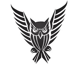 Tribal Owl embroidery design