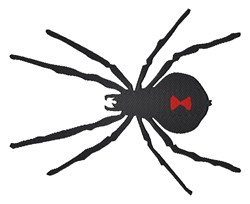 Black Spider embroidery design
