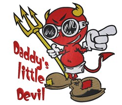 Daddys Devil embroidery design