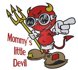Mommys Devil embroidery design