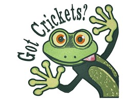 Got Crickets embroidery design