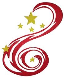 Star Swirl embroidery design