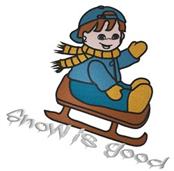 Snow Is Good embroidery design