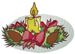 Candle Centerpiece embroidery design