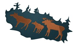Moose Family embroidery design