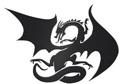 Dragon Silhouette embroidery design