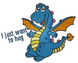 Dragon Hug embroidery design
