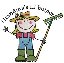 Grandmas Lil Helper embroidery design