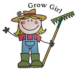 Grow Girl embroidery design