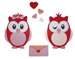 Love Letter Owls embroidery design