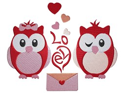 Love Owls embroidery design