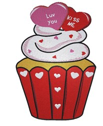 Love Cupcake embroidery design