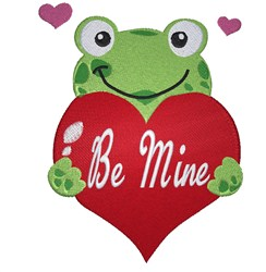 Be Mine Frog embroidery design