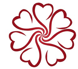 Heart Swirl embroidery design