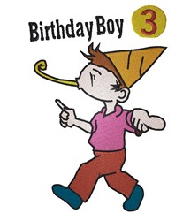 Birthday Boy 3 embroidery design