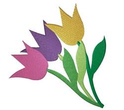 Three Tulips embroidery design