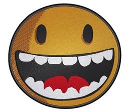 Emoticon With Teeth embroidery design