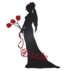 Bride With Tulips embroidery design