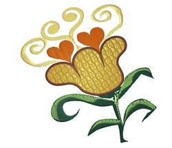 Heart Flower embroidery design