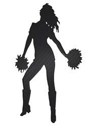 Cheerleader Silhouette embroidery design