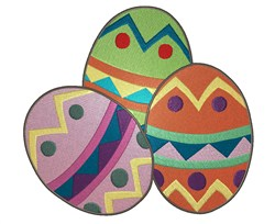 Pretty Easter Eggs embroidery design