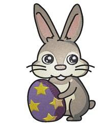 Bunny & Egg embroidery design