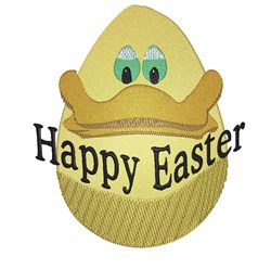 Ducky Happy Easter embroidery design