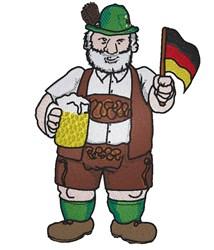 German Oktoberfest Man embroidery design