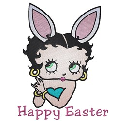 Easter Betty Boop embroidery design