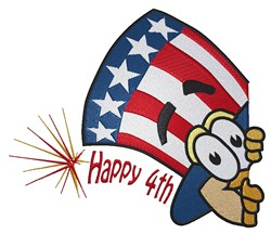 Uncle Sam & Happy 4th embroidery design
