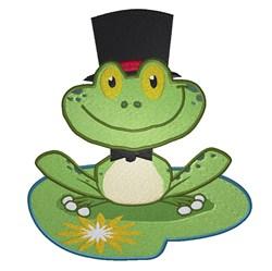Wedding Frog Groom embroidery design