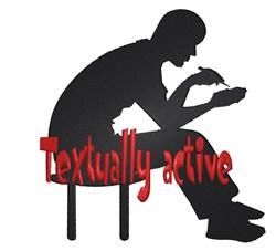 Man Textually Active embroidery design