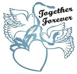 Together Forever Doves embroidery design