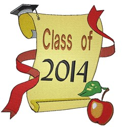 Class of 2014 Diploma embroidery design