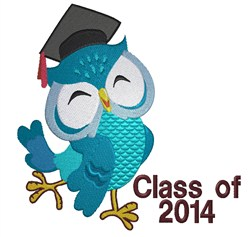 Owl Class of 2014 embroidery design