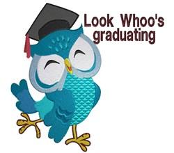 Graduation Owl embroidery design