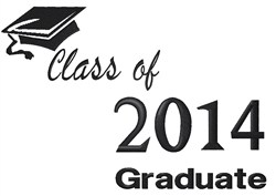 Class of 2014 Graduate embroidery design