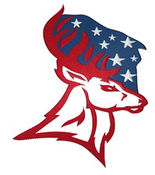 Patriot Deer embroidery design