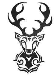 Tribal Deer embroidery design