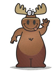 Cartoon Moose embroidery design