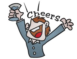 Cheers Guy embroidery design