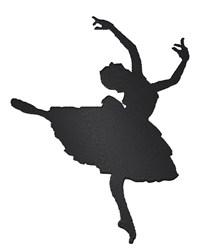 Ballerina Silhouette embroidery design
