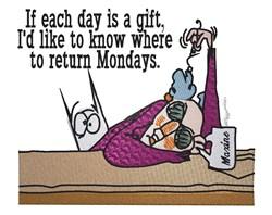 Return Mondays? embroidery design