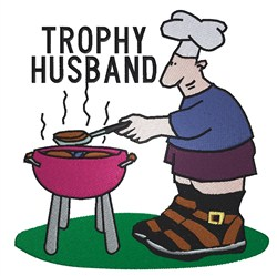 Trophy Husband embroidery design
