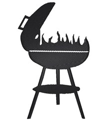 BBQ Grill Silhouette embroidery design