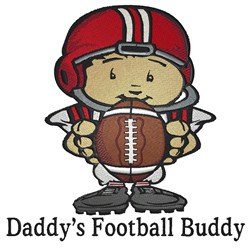 Football Buddy embroidery design