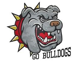 Go Bulldogs embroidery design
