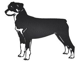 Rottweiler embroidery design