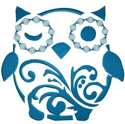 Decorative Owl embroidery design