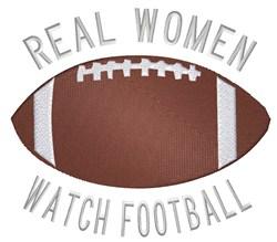 Women Watch Football embroidery design